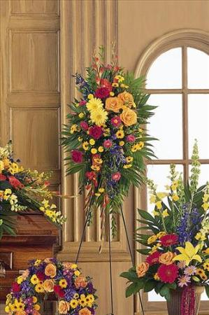 Double ended easel spray funeral flowers sympathy - Valley memorial gardens mission tx ...