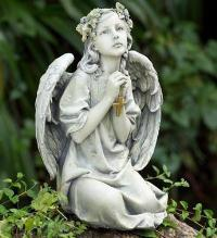 Praying Angel with Cross by McAdams Floral, Victoria|Cuero|Goliad|Edna|Port Lavaca, Texas (TX)  Funeral Florist
