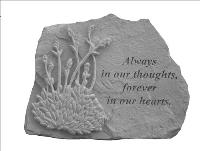 Always in our thoughts.. - Garden Accent Stone by McAdams Floral, Victoria|Cuero|Goliad|Edna|Port Lavaca, Texas (TX)  Funeral Florist
