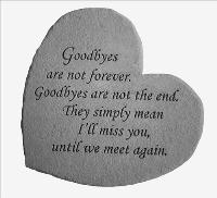 Goodbyes are not forever.. - Little Rock by McAdams Floral, Victoria|Cuero|Goliad|Edna|Port Lavaca, Texas (TX)  Funeral Florist