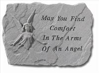 May you find comfort.. - Garden Accent Stone by McAdams Floral, Victoria|Cuero|Goliad|Edna|Port Lavaca, Texas (TX)  Funeral Florist