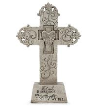 Cross with Mini Wings by McAdams Floral, Victoria|Cuero|Goliad|Edna|Port Lavaca, Texas (TX)  Funeral Florist