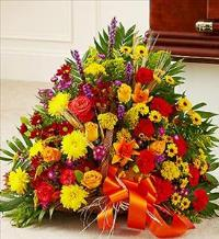Mixed Fireside Basket in Fall Colors by McAdams Floral, Victoria|Cuero|Goliad|Edna|Port Lavaca, Texas (TX)  Funeral Florist