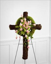 The FTD® Loveliness™ Celtic Cross by McAdams Floral, Victoria|Cuero|Goliad|Edna|Port Lavaca, Texas (TX)  Funeral Florist
