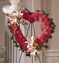 Our Love Eternal Heart by McAdams Floral, Victoria|Cuero|Goliad|Edna|Port Lavaca, Texas (TX)  Funeral Florist