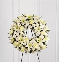 Treasured Tribute Wreath by McAdams Floral, Victoria|Cuero|Goliad|Edna|Port Lavaca, Texas (TX)  Funeral Florist