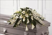 Angel Wings Casket Spray by McAdams Floral, Victoria|Cuero|Goliad|Edna|Port Lavaca, Texas (TX)  Funeral Florist