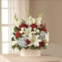 Greater Glory Basket by McAdams Floral, Victoria|Cuero|Goliad|Edna|Port Lavaca, Texas (TX)  Funeral Florist