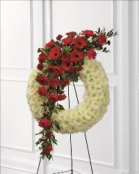 Graceful Tribute Wreath by McAdams Floral, Victoria|Cuero|Goliad|Edna|Port Lavaca, Texas (TX)  Funeral Florist