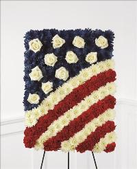 Glory Be Flag Tribute by McAdams Floral, Victoria|Cuero|Goliad|Edna|Port Lavaca, Texas (TX)  Funeral Florist