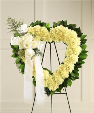 Our Hearts Speak to You™ Standing Heart by McAdams Floral, Victoria|Cuero|Goliad|Edna|Port Lavaca, Texas (TX)  Funeral Florist