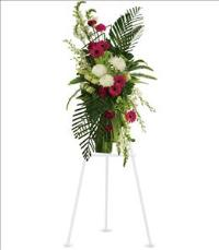 Gerberas and Palms Spray by McAdams Floral, Victoria|Cuero|Goliad|Edna|Port Lavaca, Texas (TX)  Funeral Florist