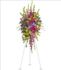 Bright and Beautiful Spray by McAdams Floral, Victoria|Cuero|Goliad|Edna|Port Lavaca, Texas (TX)  Funeral Florist
