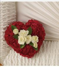 A Devoted Heart Casket Insert by McAdams Floral, Victoria|Cuero|Goliad|Edna|Port Lavaca, Texas (TX)  Funeral Florist
