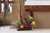 Basket with Summer Flowers by McAdams Floral, Victoria|Cuero|Goliad|Edna|Port Lavaca, Texas (TX)  Funeral Florist