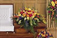 Celebration Of Life Casket Spray by McAdams Floral, Victoria|Cuero|Goliad|Edna|Port Lavaca, Texas (TX)  Funeral Florist