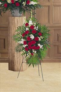 Cherished Moments Spray by McAdams Floral, Victoria|Cuero|Goliad|Edna|Port Lavaca, Texas (TX)  Funeral Florist