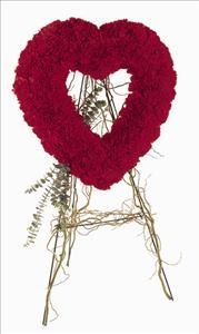 Red Carnation Heart by McAdams Floral, Victoria|Cuero|Goliad|Edna|Port Lavaca, Texas (TX)  Funeral Florist