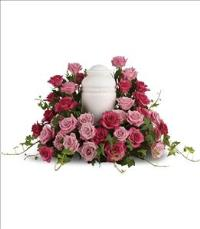 Bed of Pink Roses by McAdams Floral, Victoria|Cuero|Goliad|Edna|Port Lavaca, Texas (TX)  Funeral Florist