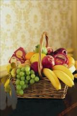 Cheese, Crackers & Fruit Basket by McAdams Floral, Victoria|Cuero|Goliad|Edna|Port Lavaca, Texas (TX)  Funeral Florist