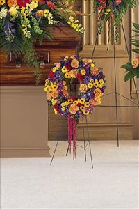 Small Mixed Wreath by McAdams Floral, Victoria|Cuero|Goliad|Edna|Port Lavaca, Texas (TX)  Funeral Florist
