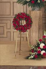 Small Red Wreath by McAdams Floral, Victoria|Cuero|Goliad|Edna|Port Lavaca, Texas (TX)  Funeral Florist