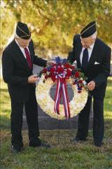 Red, White & Blue Wreath by McAdams Floral, Victoria|Cuero|Goliad|Edna|Port Lavaca, Texas (TX)  Funeral Florist