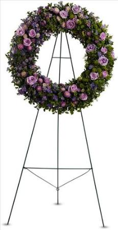 Heavenly Wreath by McAdams Floral, Victoria|Cuero|Goliad|Edna|Port Lavaca, Texas (TX)  Funeral Florist